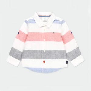 Παιδικό πουκάμισο λινό Boboli 712314 για αγόρια έως 6 ετών