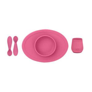 Εκπαιδευτικό σετ φαγητού Ezpz ροζ FD-P7424U 4Μ+