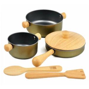 Μαγειρικά σκεύη Plan Toys 3413 2Ε+ - Εκπαιδευτικά παιχνίδια