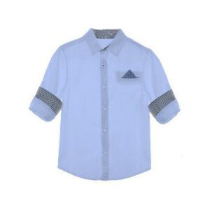 Παιδικό πουκάμισο Marasil 22112908 σιέλ για αγόρια