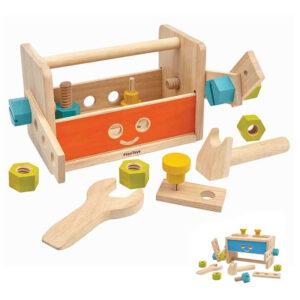 Ξύλινη εργαλειοθήκη-πάγκος Plan Toys 5540 3E+ για ατελείωτο παιχνίδι