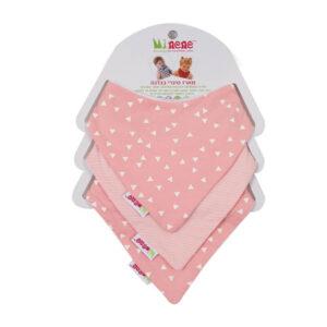 Σετ 3 σαλιάρες / μπαντάνες Minene pink για το μωράκι σας