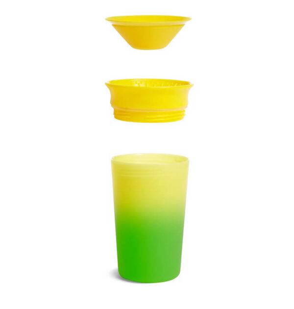 Εκπαιδευτικό κύπελλο Munchkin που αλλάζει χρώμα 12m+ 296ml πράσινο