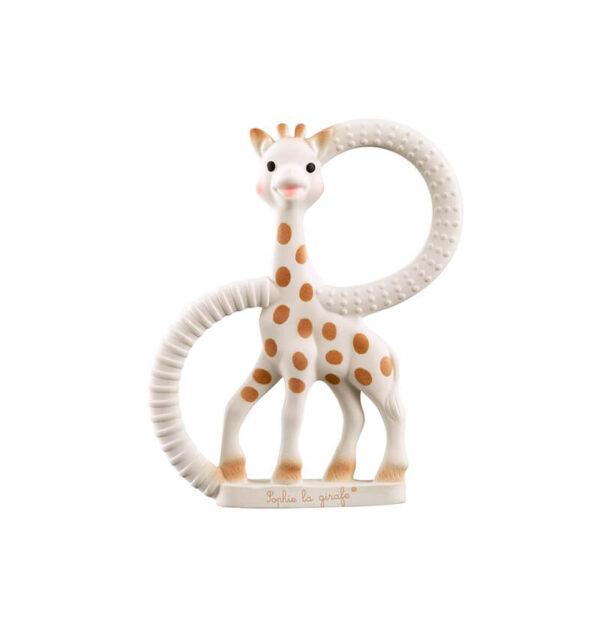 Πανάκι παρηγοριάς με κλιπ πιπίλας Sophie la girafe δακτύλιο οδοντοφυίας