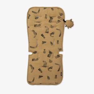 Κάλυμα καροτσιού Minene art ochre, απαλό 100% βαμβακερό ύφασμα