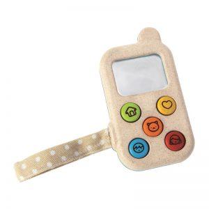 Ξύλινο κινητό τηλέφωνο Plan Toys 5674 12Μ+ για ατελείωτο παιχνίδι