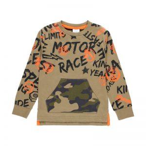 Παιδική μπλούζα λεπτό φούτερ junior boy Boboli 523066 για αγόρια