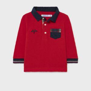 Βρεφικό πόλο Mayoral 02139 κόκκινο για αγόρια έως 3 ετών