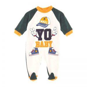 Βρεφικό φορμάκι βελουτέ jersey Marasil 22110827 για αγόρια